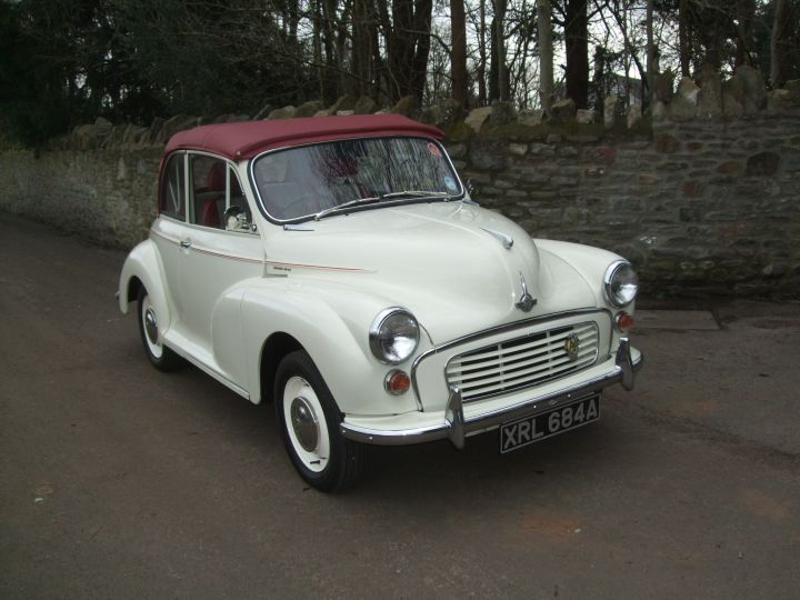 GENUINE, 1963, OLD ENGLISH WHITE CONVERTIBLE