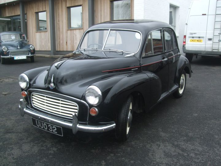 1956 BLACK SPLIT SCREEN 4 DR SALOON, NICE NUMBER PLATE.