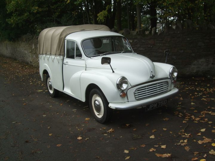 OLD ENGLISH WHITE PICK-UP IN GOOD CONDITION