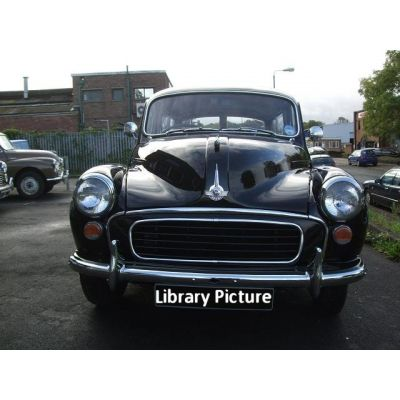 Black Morris Minor Traveller 2