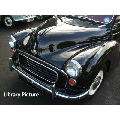 Black Morris Minor Traveller 3