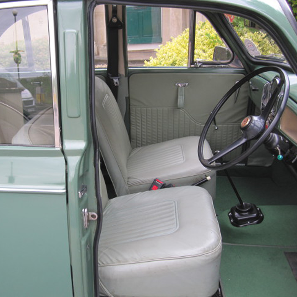 almond green 4 door saloon with light green interior trim charles ware 39 s morris minor centre. Black Bedroom Furniture Sets. Home Design Ideas