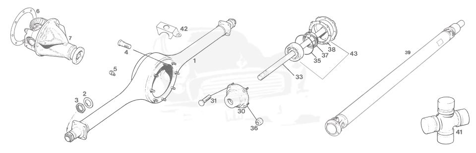 REAR AXLE, PROPSHAFT & DIFFERENTIAL