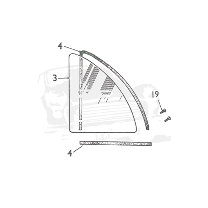 REAR WINDOWS - 4 DOOR