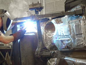 charles ware morris minor centre welding