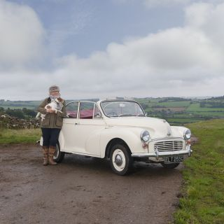 A Charles Ware Morris Minor turns heads at just 5 mph