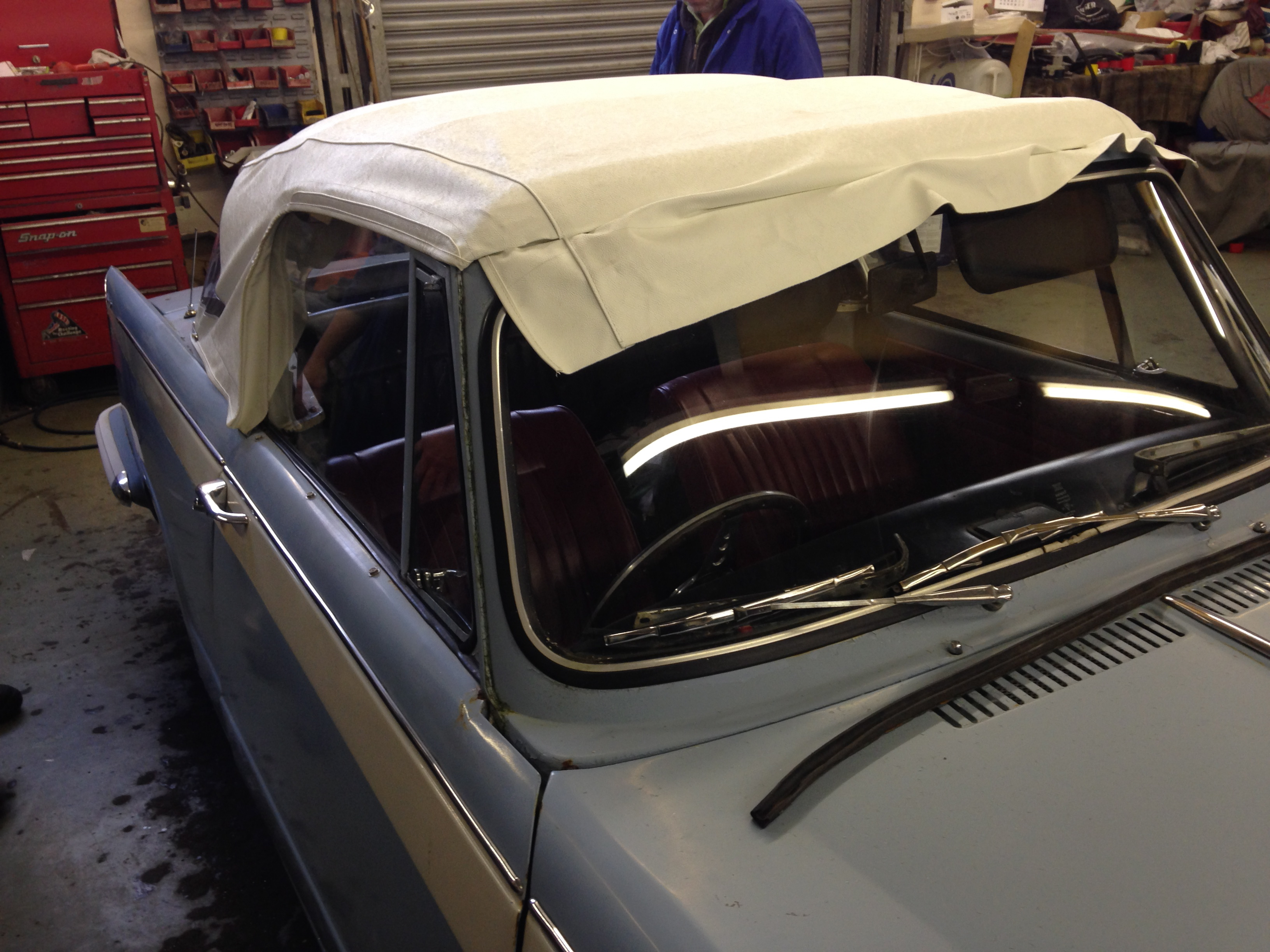 custom fitting the hood canvas