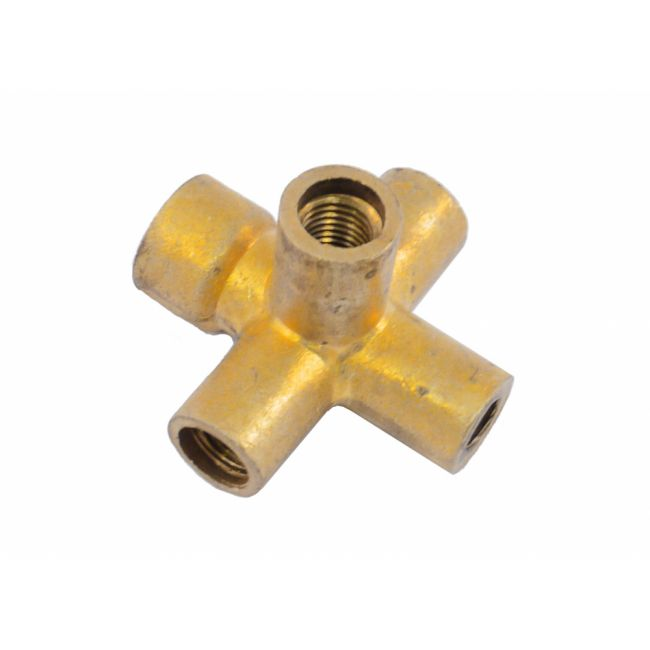 Brass 4 Way Union - Front For Brake Light Switch 2