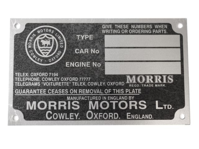 Chassis Plate - Early Series MM