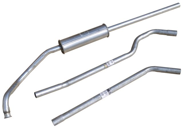 Exhaust Pipe - Mild Steel - 3 Piece