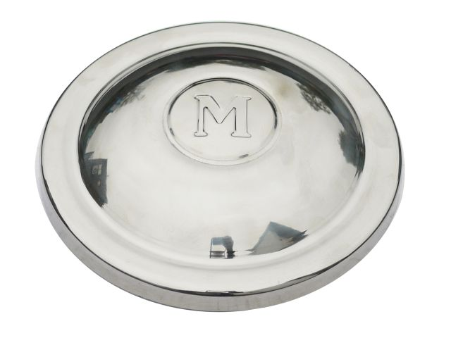 Hub Cap - Early 8.5 Inch Diameter - 'M' Motif