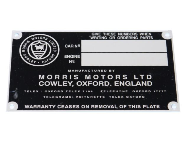 Chassis Plate - Early - Large