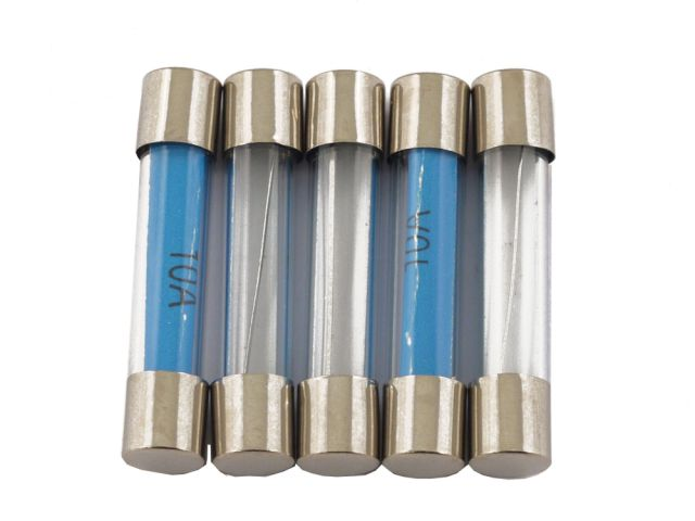Fuse - 10 Amp Glass - Pack Of 5